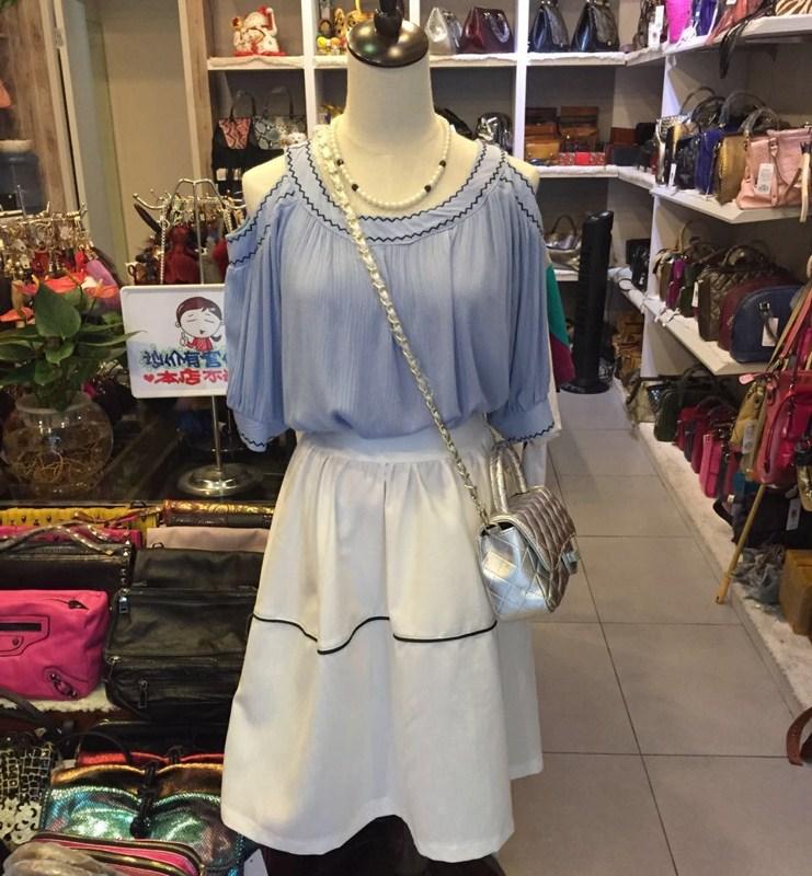 菲卖品 2015夏新款 百搭淑女半身裙 白色 女士