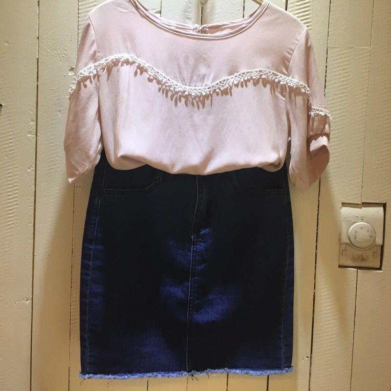 夏沫2015夏新款 半身短裙 女士 牛仔短裙 修身