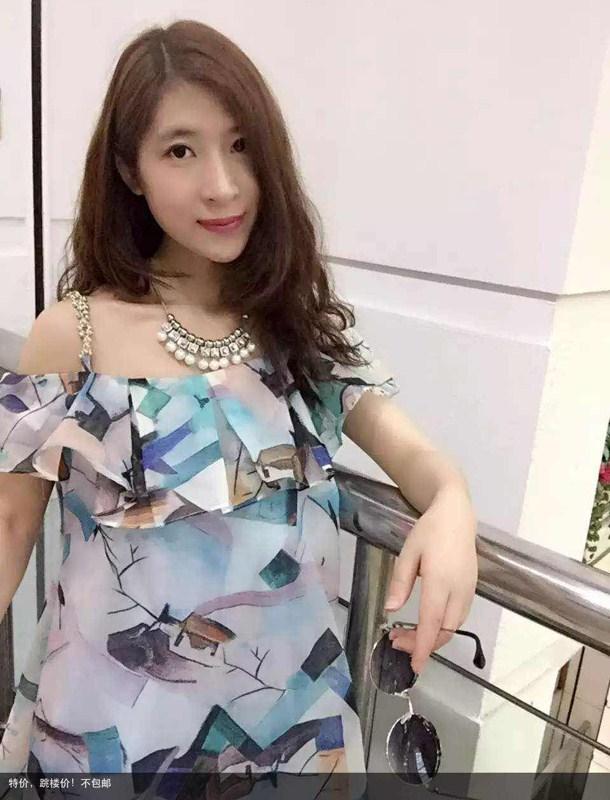 左左2015夏新款 女士 拼接 印花 吊带 雪纺衫