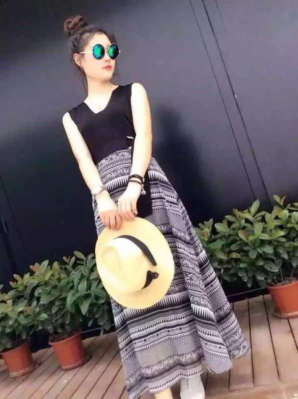 mqueen 2015夏 新款 女士 长裙