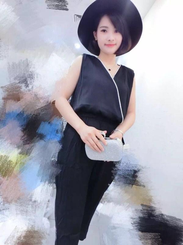 muqeen魅女王 2015夏 新款 女士 黑色 连体裤