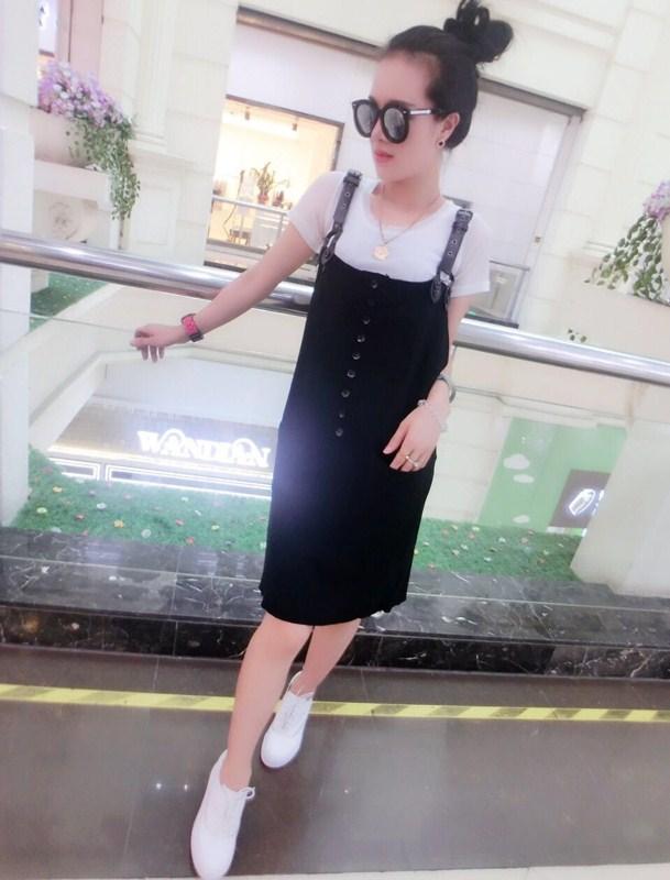 魅族风暴2015夏新款 黑色 连衣裙 女士