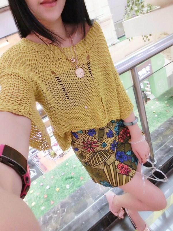 魅族风暴2015夏新款 黄色 针织衫 女士
